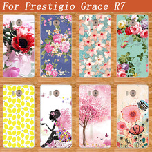 Popular Cover For Prestigio Grace R7 PSP7501DUO 7501 Duo Painting Pattern Flower Style Caes For Prestigio Grace R7 7501 cover