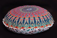 Large Floor Pillows Indian Mandala Round Cushion Covers Pouf Ottoman Tapestry,pillow case(pillow not included)(China)
