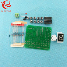 8 Ways Digital Responder Parts Electronic Component CD4511 Welding Practice Board PCB Soldering Practice Experiment DIY Kit(China)