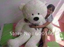 White Color JUMBO 63'' / 160cm Giant Stuffed Teddy Bear Plush Bear Free Shipping FT90059