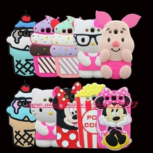 For Samsung Galaxy S3 I9300 Case HOT 3D Minnie Pig Cupcake Hello Kitty Unicorn Soft Phone Back Cover for Samsung S3 i9300 9300