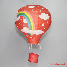 fire balloon shape mulit color option 16 inch 40cm Round Chinese Paper Lantern Birthday Wedding Party decor gift craft DIY Wh