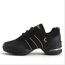 New Sports Feature Soft Outsole Breath Dancing Shoes Sneakers For Woman Practice Shoes Modern Dance Jazz Shoes Discount(China)