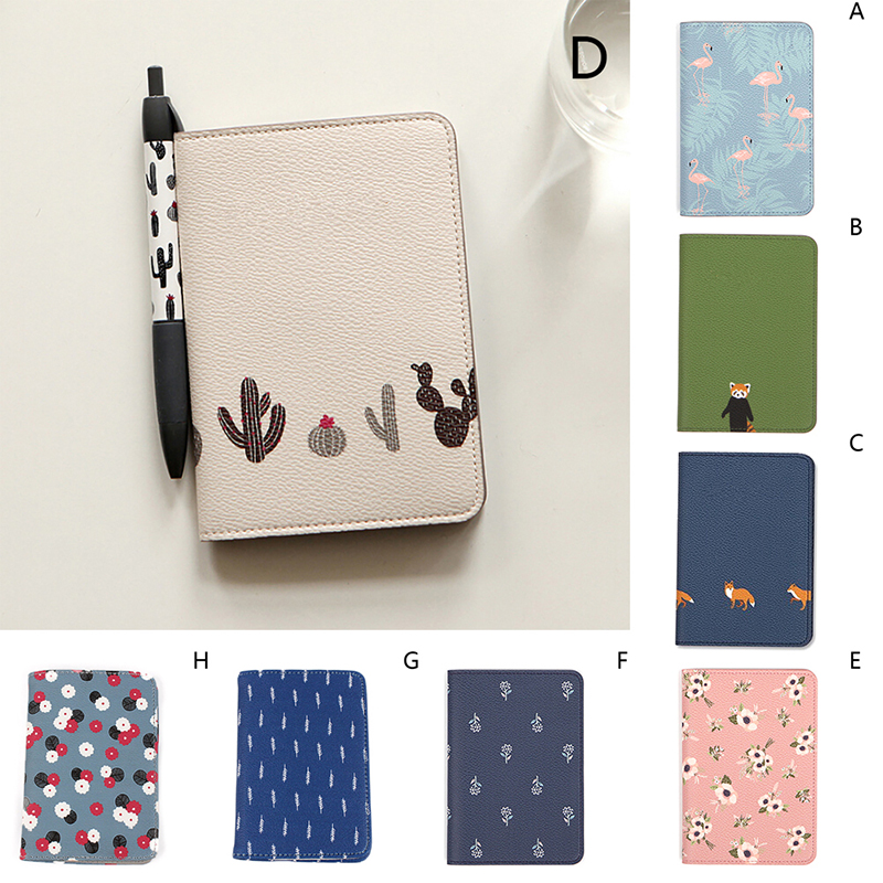 1PC Velishy Travel Cute Printing Passport Cover Women Card Holder Passport Holder PU Leather Card Holder Passport Cover 14*10cm