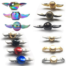 Fidget Spinner Harry Potter Golden Snitch Hand Spinners Rainbow Metal Copper Cupid Angel Wing Decompression Toy finger Gyro(China)