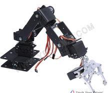 The latest !The chassis is more heavy!!6 dof robot arm +mechanical claw+6PCS High torque servos + large metal base