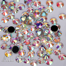 High Quality SS4-SS40 Better DMC Hotfix Rhinestone Crystal White Clear AB Iron On Hot Fix Stone for Transfer Motif Designs Y2881(China)