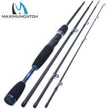 Maximumcatch Fishing Baitcasting Rod 2.1M/2.4M 4Pieces Travel Carbon Fiber Fishing Rod Casting Rod
