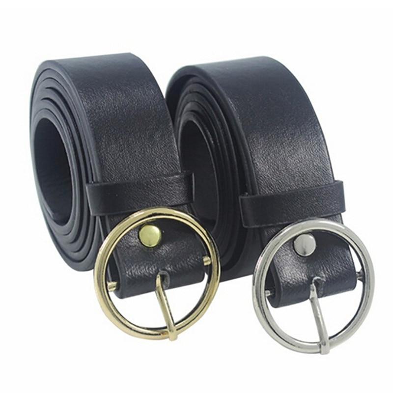 Metal Circle Belts Unisex Round Punk O Ring Belt 2018 Hot Designer Brand For Women