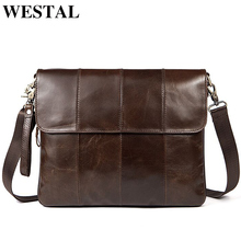 WESTAL Genuine Leather bag Men Bags Messenger casual Men's travel bag leather clutch crossbody bags shoulder Handbags 2017 NEW(China)