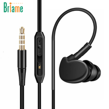 Briame Ear Hook Sport Earphone Sweatproof Running Headphone Headset With Mic for iPhone Xiaomi Sony Super Bass Sport Headphones