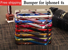 Deluxe Aluminum To Complete The Border For iphone 4 Bumber Case For Iphone 4S Rigid Aluminum Frame(China)