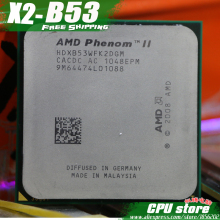 AMD Phenom II  X2 B53 CPU Processor Dual-Core (2.8Ghz/ 6M /80W / 2000GHz) Socket am3 am2+ free shipping 938 pin , sell B59 B55