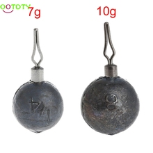 Round Shape Lure Lead Sinker New Fishing Tackle Weight 7g 10g