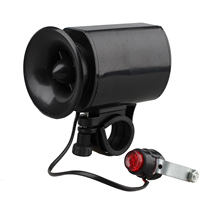 Waterproof Electronic Bicycle Bike Ultra-loud Bell 6 Sounds Horn Alarm Speaker(China)