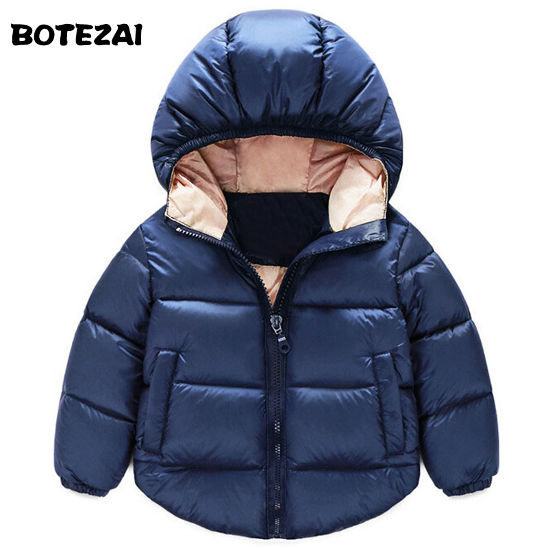 2017 Fashion Children Down Parkas Kids clothes Winter Thick warm Boys girls jackets & coats baby thermal liner down outerwear(China (Mainland))