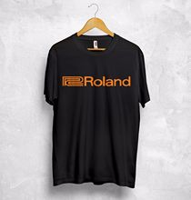 Roland Logo T Shirt Music Systems Audio Audiophile Retro Synthesiser Analogue T-Shirt Men Tees Brand Clothing Funny