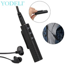 NEW Portable Clip-on Wireless Bluetooth Receiver 3.5mm bluetooth Audio Music Adapter with Mic for Headphones Speaker Car Mp3(China)