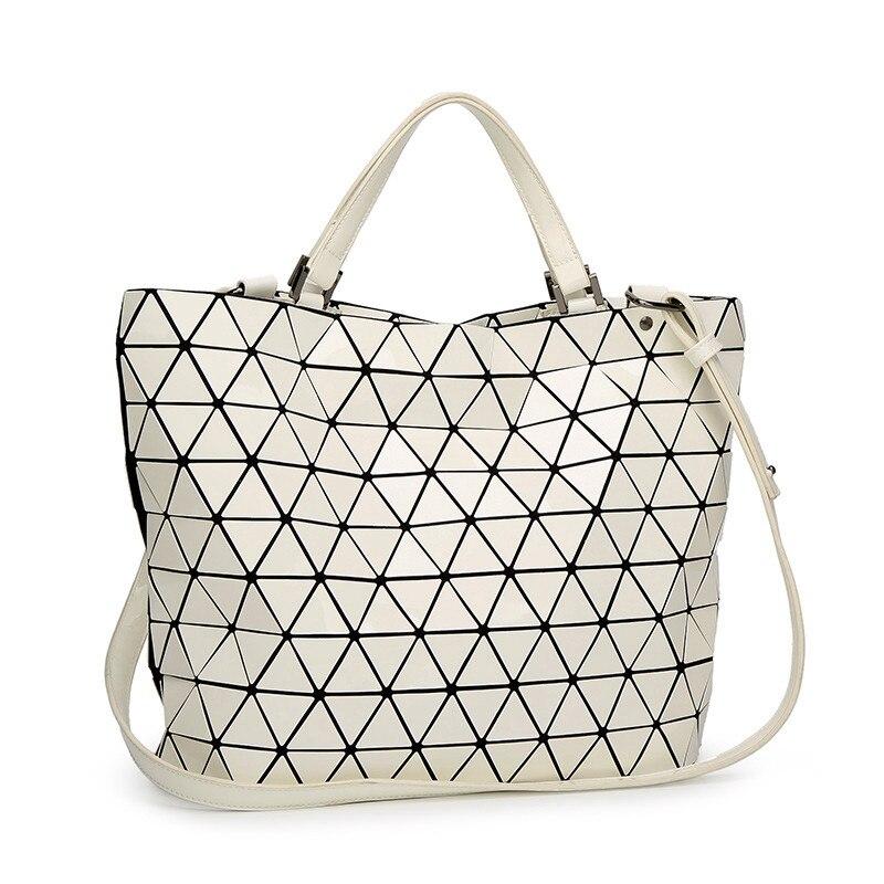 Geometry Bucket Sac Women Bags Sequins Mirror Saser Plain Folding Ladies Shoulder Bag Female Tote bao bao womens Handbags 2018<br>