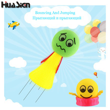 10Pcs/Lot Big Size Super Fun Toys Jump Bounce Colorful Flying Plaything Children Creative Birthday And Chiristmas Gift
