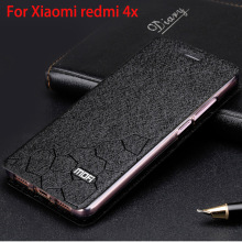 "Xiaomi redmi 4x case flip cover redmi 4x tpu leather hard cover original Mofi Xiomi redmi 4x case aluminium metal 5.0"" fundas(China)"