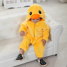 Halloween Costume Infant Baby Yellow Duck Anime Cosplay Newborn Toddlers Clothing(China)