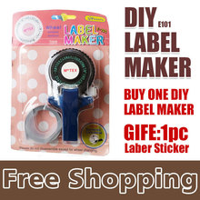 1x Tape Writer for 9mm self adhesive tape, office gift label adhesive tagging gun, DIY label maker, scrapbooking marker embosser