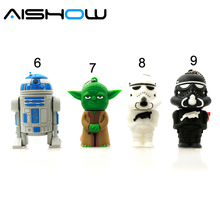 Star Wars Darth Maul/black/white Vader R2D2 Robot Boba Yoda USB Flash Drive/U Disk/Creativo Pendrive/Memory Stick/Gift 128mb 8gb - Gift usb flash drive stores store