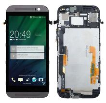 For HTC One M8 831C LCD Display Touch Screen Digitizer + Frame Assembly Gray
