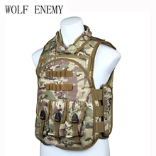 New 4 in 1 Waistcoat flying tigers fight battle Tactical vest Army Hunting Shooting Combat Molle Vest