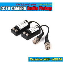 10pairs Free shipping Twisted BNC CCTV Video Balun Transceivers UTP Balun BNC Cat5 CCTV UTP passive Video Balun transiver(China)