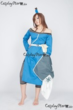 Naruto Cosplay Naruto Costume  Terumi Mei Cosplay Blue Women Naruto Cosplay Costume 2014