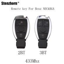 Stenzhorn 2 3 Buttons 433Mhz Complete Remote Key Fob Mercedes Benz 2000+ NEC&BGA style key Benz NEC&BGA Key