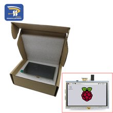 LCD module 5.0 inch Pi TFT 5 inch Resistive Touch Screen LCD shield module HDMI interface for Raspberry Pi 3 A+/B+/2B(China)