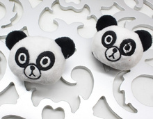 Cute New 100pcs Kawaii Panda plush Dolls , Mini 4CM Stuffed TOY DOLL , Hair , Garment , Hairband accessories plush dolls toys(China)