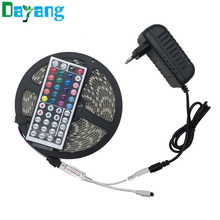 Discount 12V 10M 5M RGB LED Strip 5050 5M/Roll Waterproof led light 10M+Remote Controller+DC 12V Power Supply EU UK US AU plug