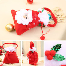 1 pcs Cute Christmas candy boots gift Bags Christmas Hand bag Decoration Home Party Santa Claus Decor apple bag kids gift toy