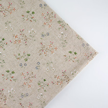 150cm x 0.5 meter floral print patchwork linen cotton fabric cloth DIY table cloth collection plain curtain material