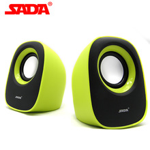 SADA V-106 Pair Portable Mini PC Speaker Portable Surround Stere Bass Subwoofer Computer Phone USB Speakers for Notebook Laptop