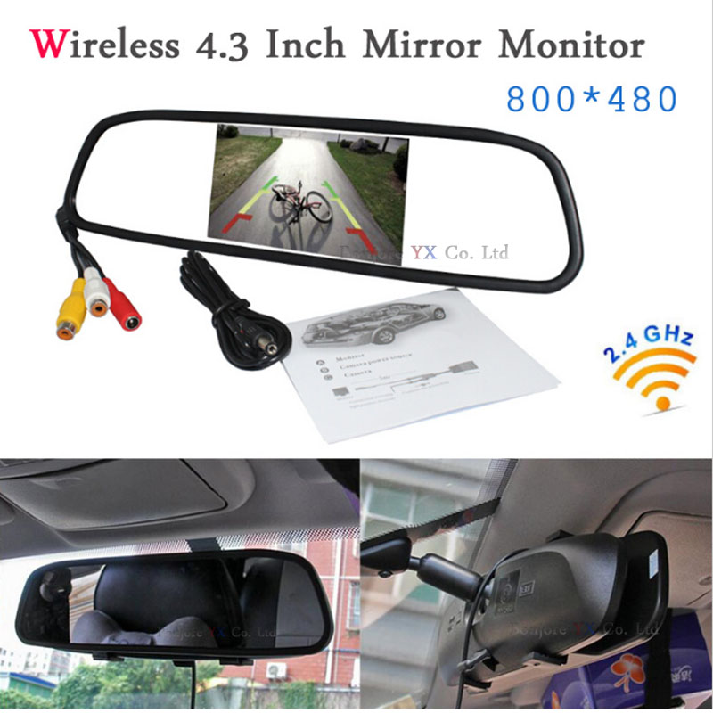 Koorinwoo 2.4G Wireless Module Car TFT LCD Mirror Monitor Display Parking Assist 12V car rear view camera DVD Video system