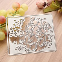KiWarm English Letter Best Wishes Cutting Dies Stencils Template Art Embossing for Scrapbooking Album Photo Paper Card DIY Decor