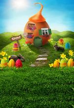 Easter day cartoon images photography backdrops fotografia photo background for Children photo studio photography background(China)