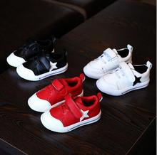 New Style Children's casual Sport Shoes Leather Boys Girls Leather Shoes Baby Fashion Sneakers Comfortable Kids leisure Shoes