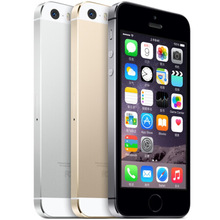 Unlocked Apple iPhone 5S 16GB / 32GB ROM IOS Phone Sliver Grey Gold GPS GPRS A7 IPS LTE Cell phone Iphone5s Refurbished