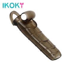 Buy IKOKY Penis Sleeve Solid Head Extend Penis Extender Cock Ring Sex Toy Man Bullet Vibrator Adult Products Enlargement