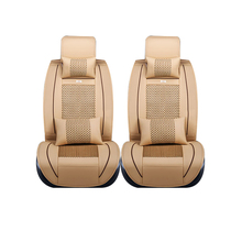 Special leather only 2 front car seat covers For Dacia All Models Sandero Duster Logan pink car accessories auto cushions