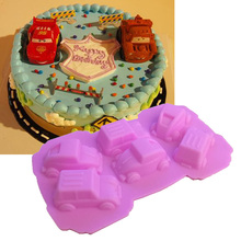 1PCS Food Grade Silicone Carton Cars Shape For Silicone Cake Molds, Fondant Cake Decorate K050