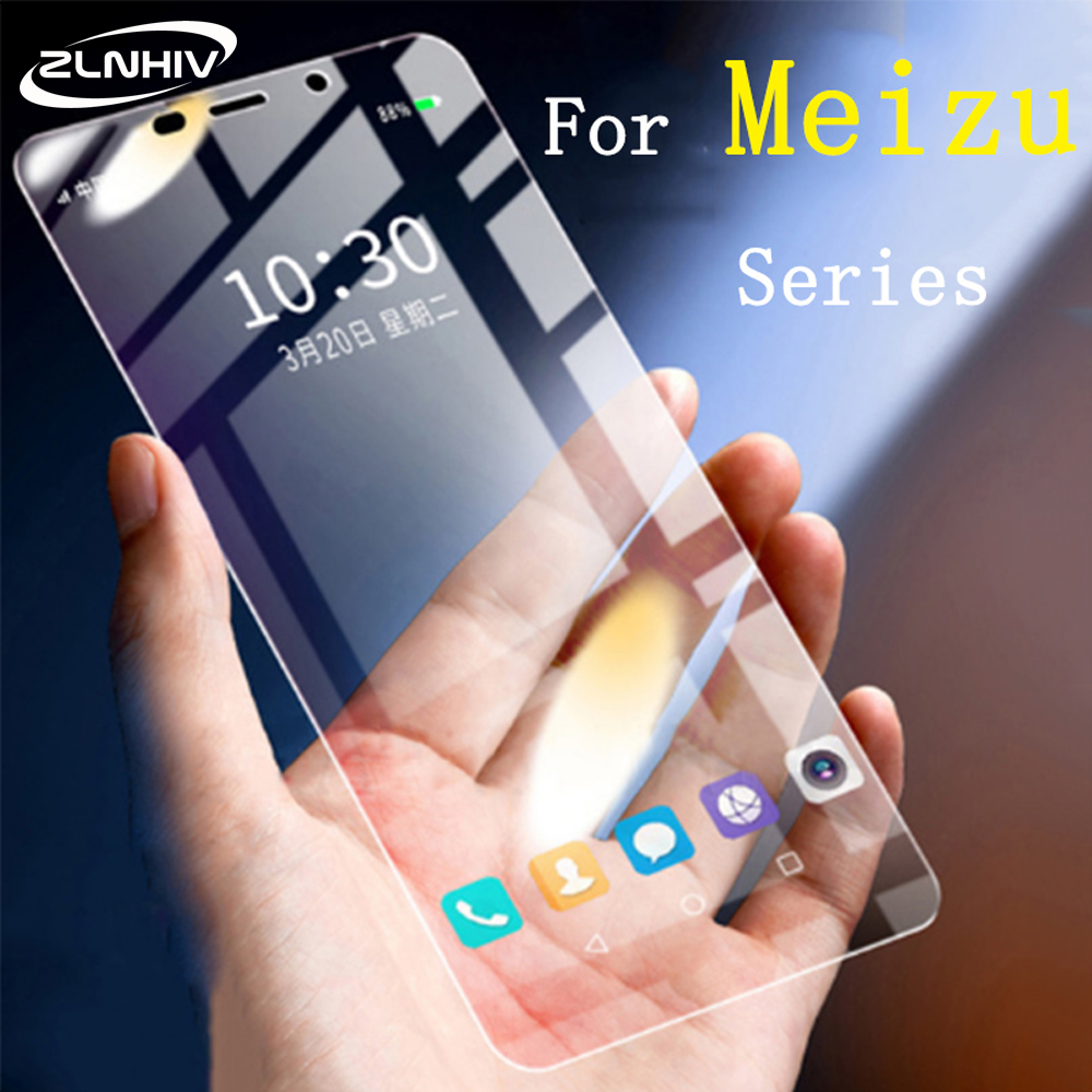 ZLNHIV for meizu m6 phone screen protector tempered for meizu m5c m5s m5 note m6s m6t m6 note m8 m8c glass protective smartphone title=