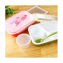 3 Blocks Microwaveable LunchBox Kids Food Container Soup Cup Disposable Tableware Bento Lancheira Dinnerware Set