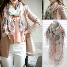 Voile Soft Long Scarf Women Eiffel Tower Printed  Shawl Stole Scarves  1P91